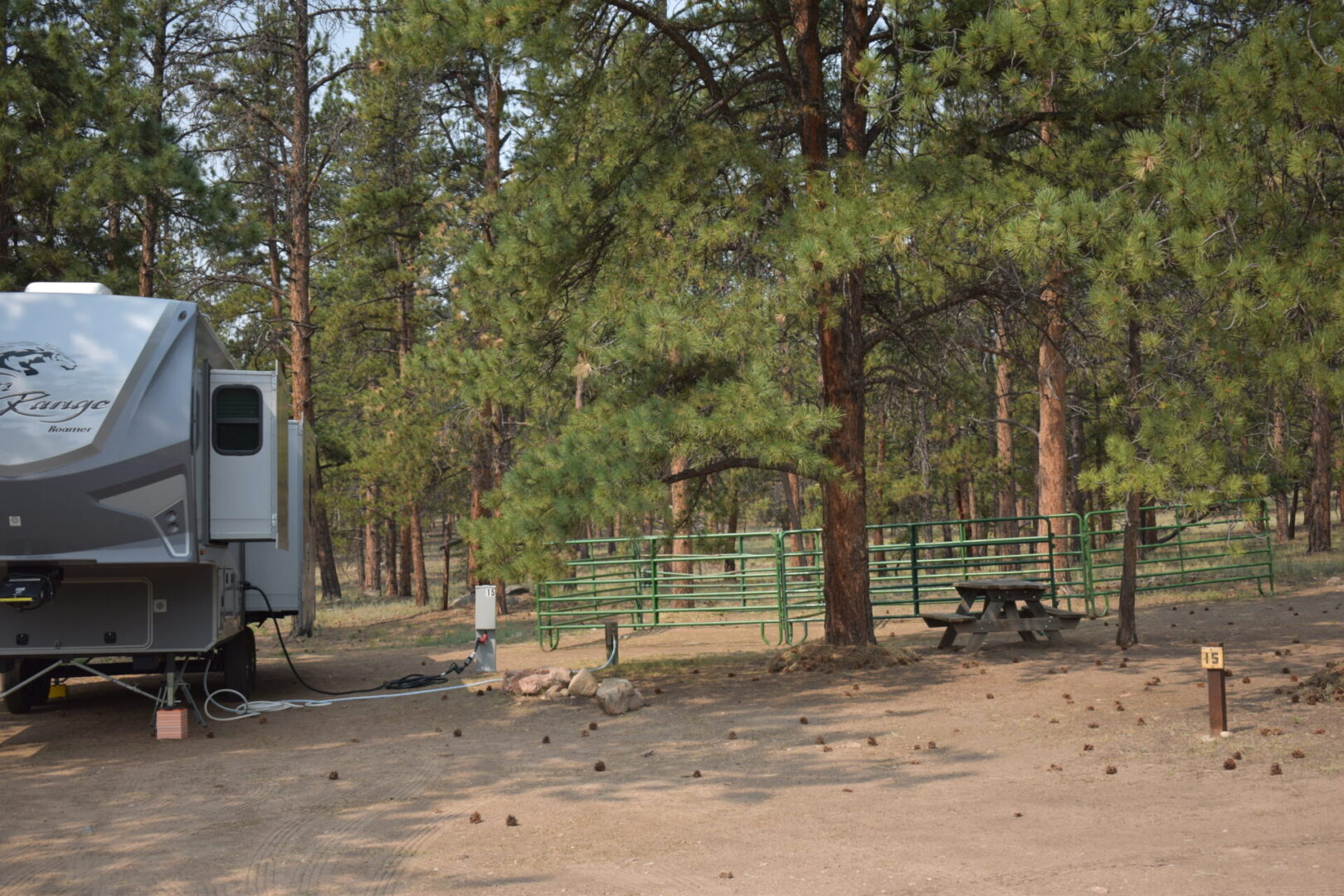 RV Site 15 Partial Hook up