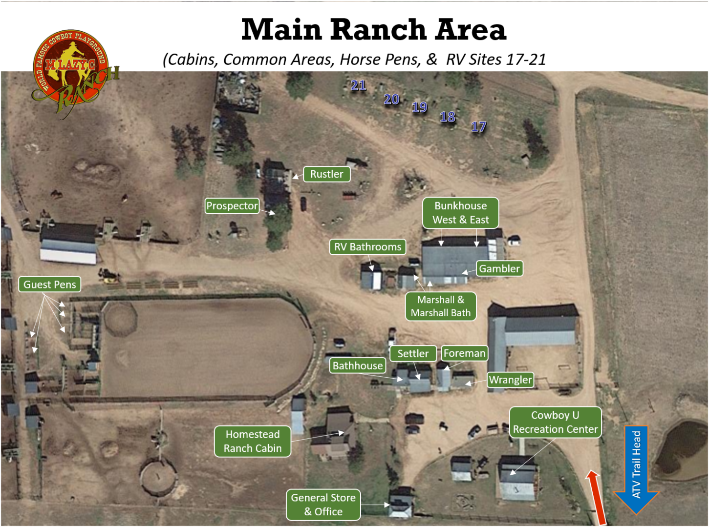 Main Ranch Area Cabins .RV.Horse